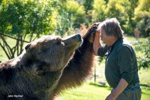 Photo of Doug Seus and Bart the Bear 2.