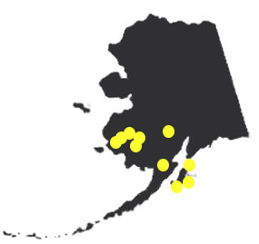 Alaska area - Map Points