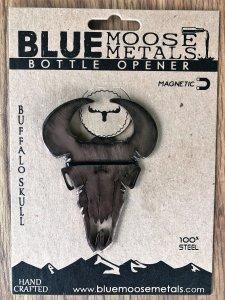 Bison skull bottle opener