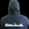 Back view of Vital Ground hooded sweatshirt