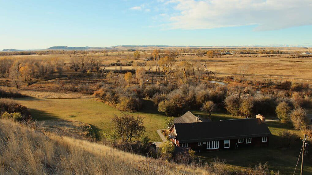 Overhead photo of Glen Willow ranch