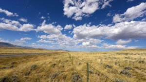 Photo of Montana prairie and fence