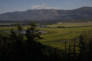 Kootenai Valley view from Boundary Creek Overlook, by Mitch Doherty