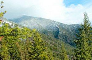 Autumn snow on the Cabinet Mountains near Weber Gulch