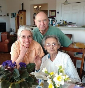 Photo of Gary and Rita Wolfe and Sabina C. d'Baca