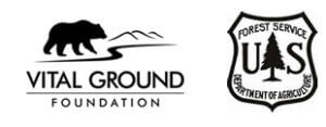 Vital Ground and the U.S. Forest Service's logos