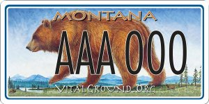 Monte Dolack Montana Great Bear license plate