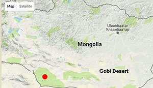 Map of Vital Ground work in Mongolia
