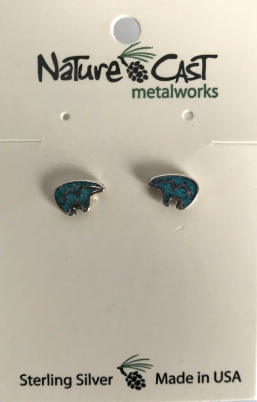 Turquoise Spirit Bear earrings
