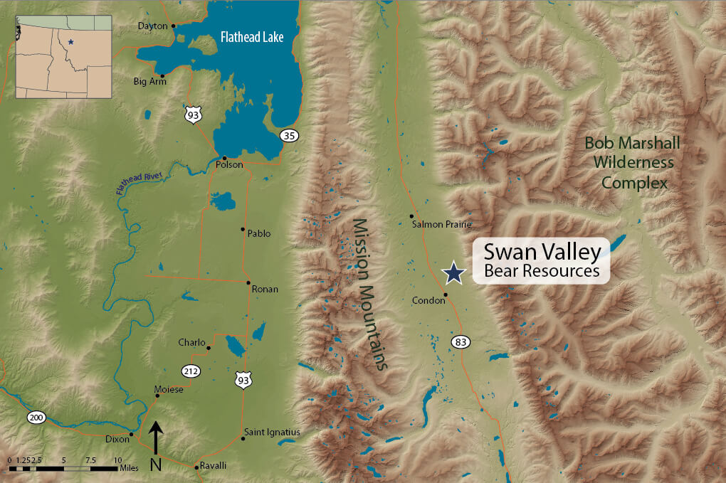 Swan Valley Montana Map.Swan Valley Bear Resources Grizzly Bear Conservation