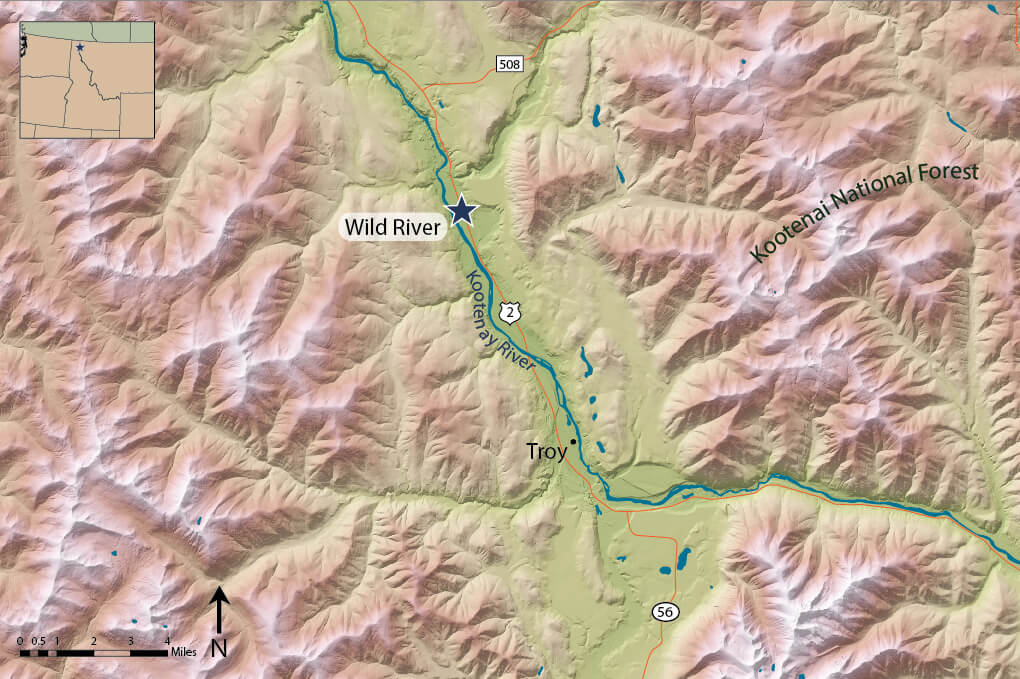 map of wild river