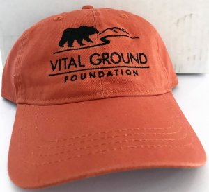 Vital Ground grizzly bear baseball cap orange