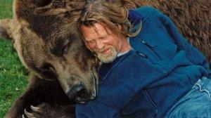 Doug Seus and Bart the Bear