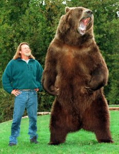 Doug Seus and Bart the Bear