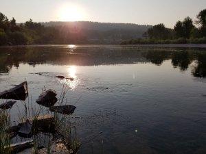 Wetland sunset near Ninemile Creek and Clark Fork Montana