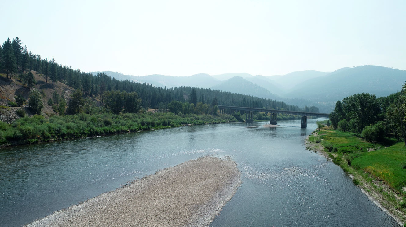 I-90 Bridge and Clark Fork River at Ninemile project site