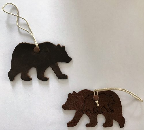 Grizzly bear christmas tree ornaments