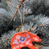 Grizzly bear poetry christmas tree ornament