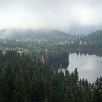 Alvord Lake Montana autumn photo