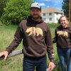 Brown Vital Ground grizzly bear sweatshirts