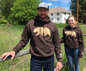 Brown Vital Ground grizzly bear sweatshirts