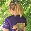 Purple women's grizzly bear t-shirt