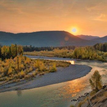 North Fork Flathead River sunset