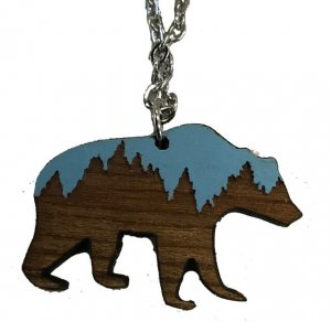 Vital Ground grizzly bear necklace