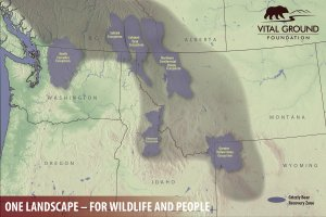Map showing Vital Ground's vision of One Landscape for wildlife and people