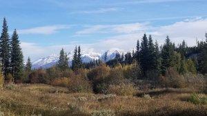 Glacier National Park peaks from North Fork Valley