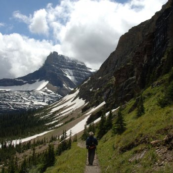 Hiker in Glacier National Park