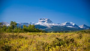 Chief Mountain and Glacier National Park from the Blackfeet Indian Reservation